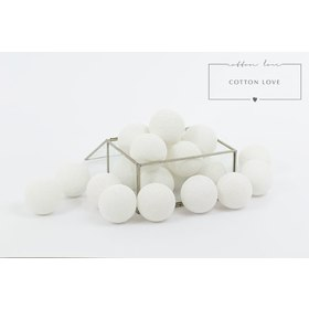 Cotton illuminating ICE marbles Cotton Balls - white, cotton love